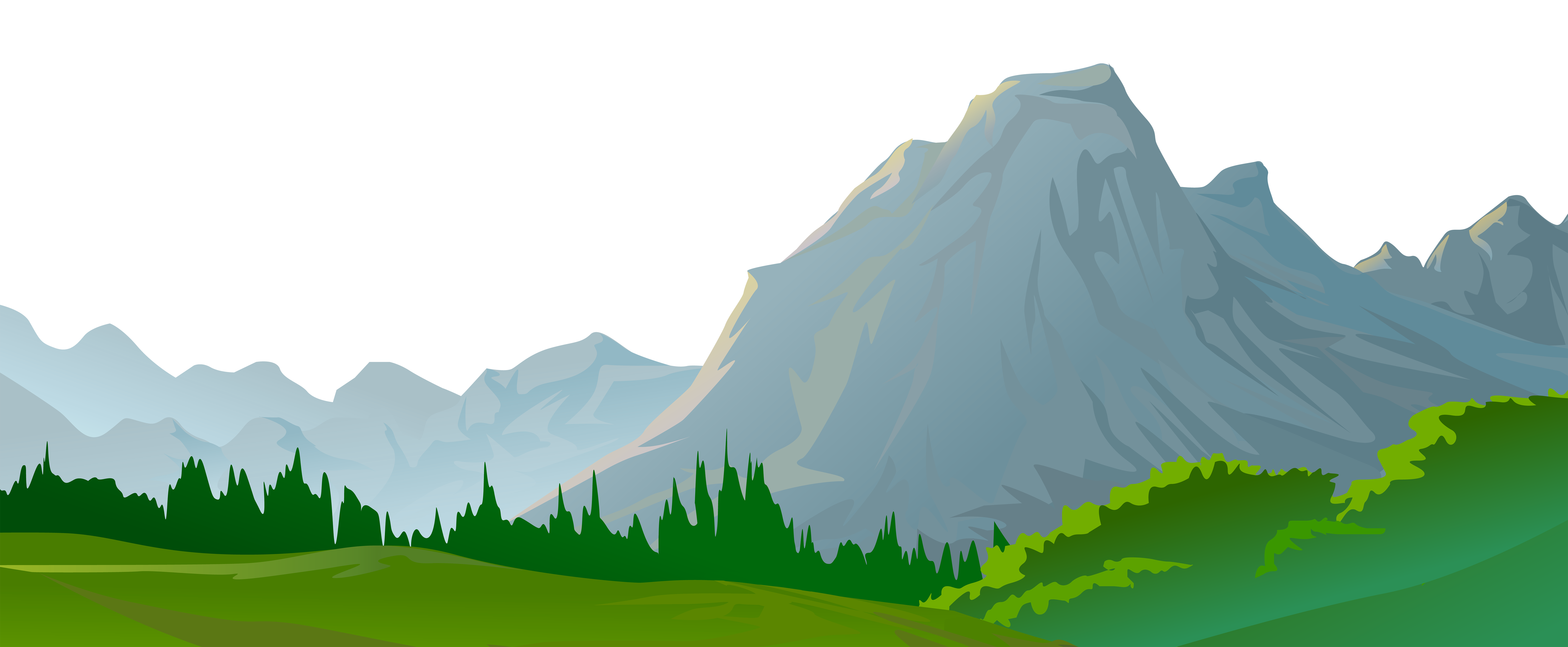 mountain clipart view