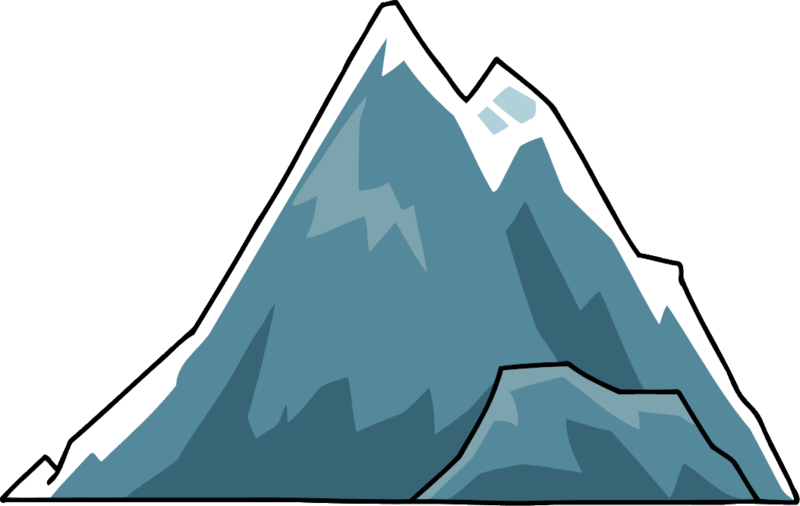 Vector lake mountain scenery. Png clipart free icons