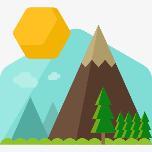 hill clipart mountain slope
