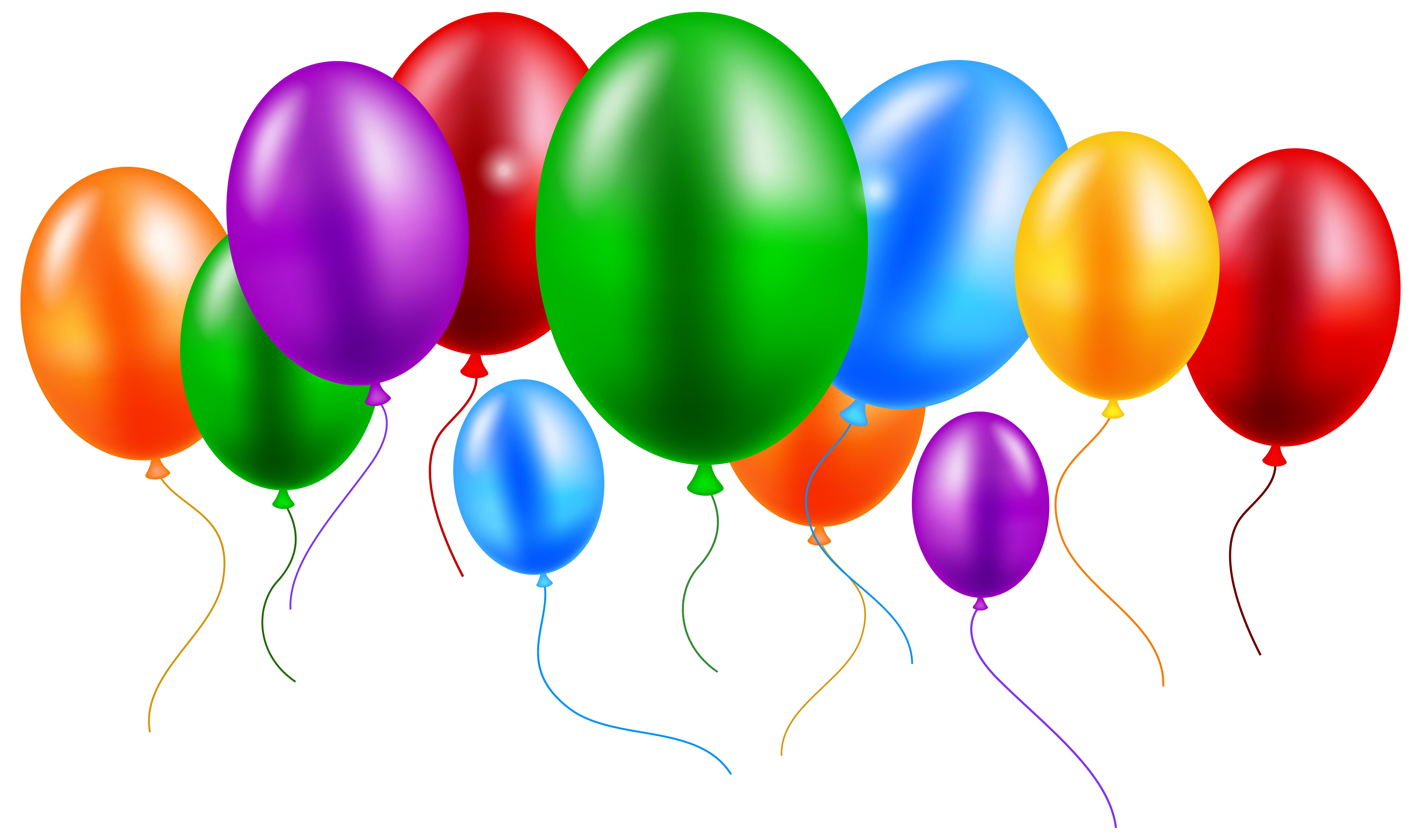 High definition balloons png. Colorful clip art best