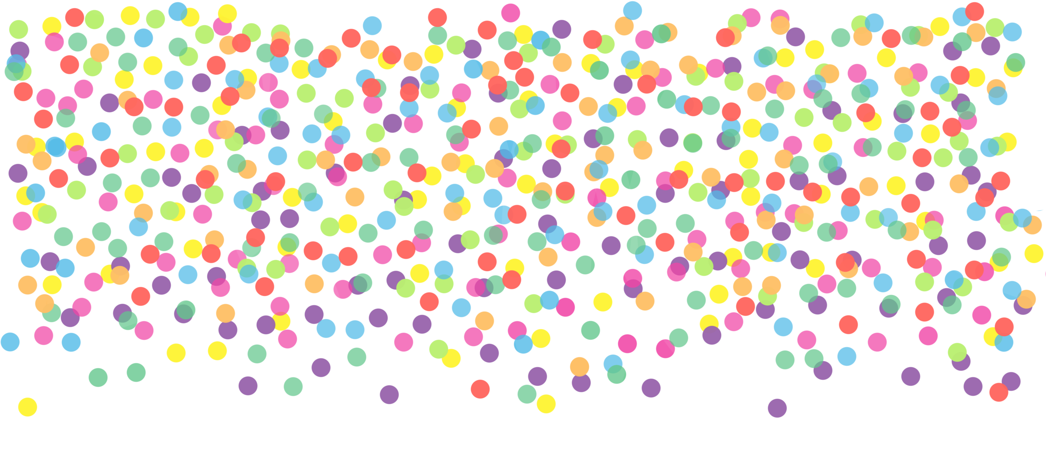 Sprinkles falling png. Pbl confetti dots rainbow
