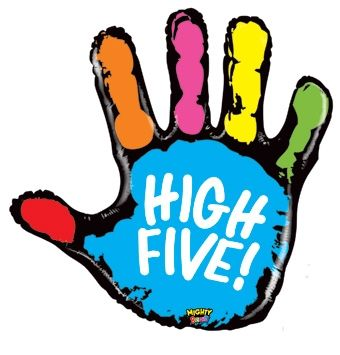 High five clipart pink. Vector and clip art
