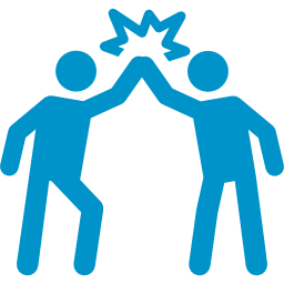 High five clipart team success. Successful employee png images