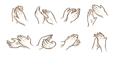 High five free vector. Shaka drawing stencil banner library stock