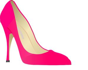 High heel clipart. Pink