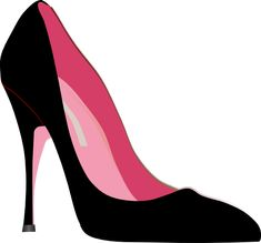 High heel clipart kid. Silhouette online store view