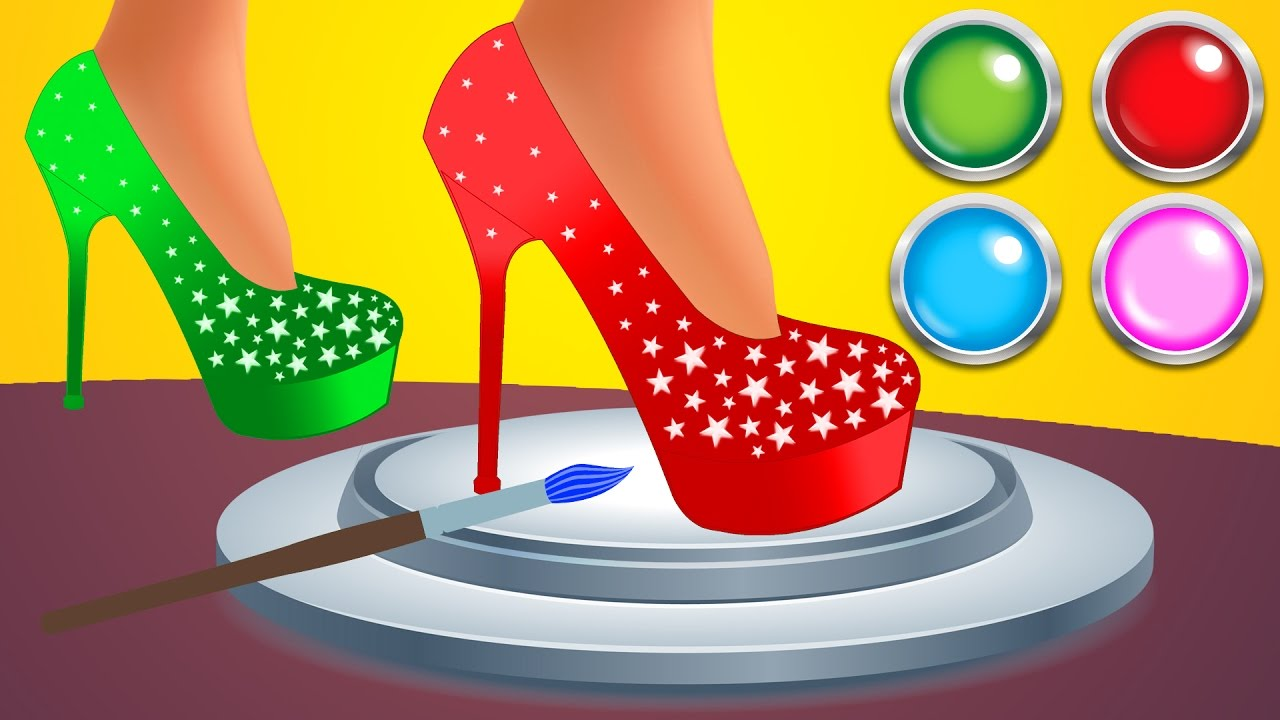 High heel clipart kid. Learn colors with heels
