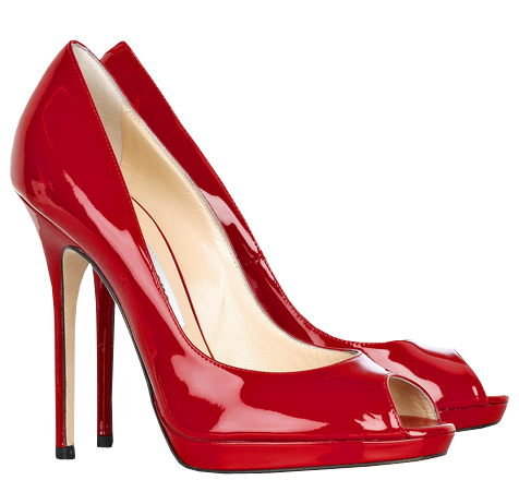 High heel clipart lady shoe. Red female heels png