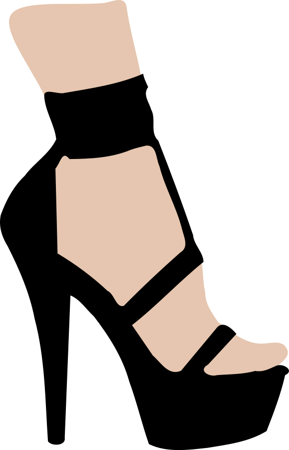 high heel clipart female shoe