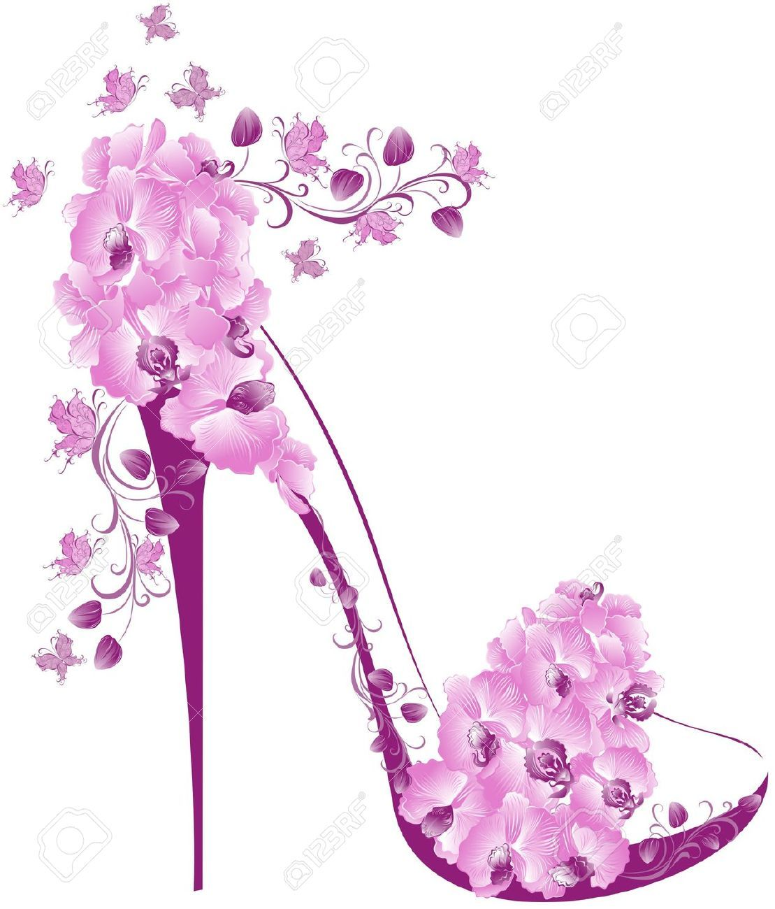 High heel clipart purple. Pink shoes images art