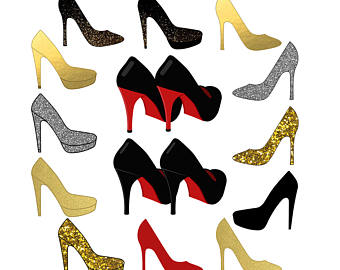 High heel clipart red heel. Shoe etsy shoes sparkle
