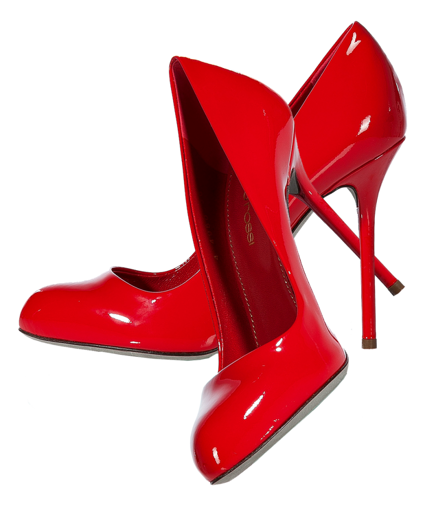 High heel shoe png. Red shoes mart