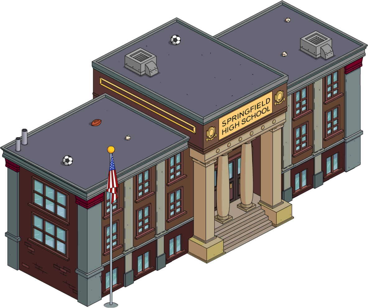 High school png. Image springfield tapped out