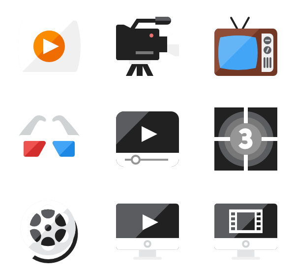 Png kan video. Music player icons free