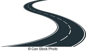 Winding and stock illustrations. Road clipart graphic transparent stock