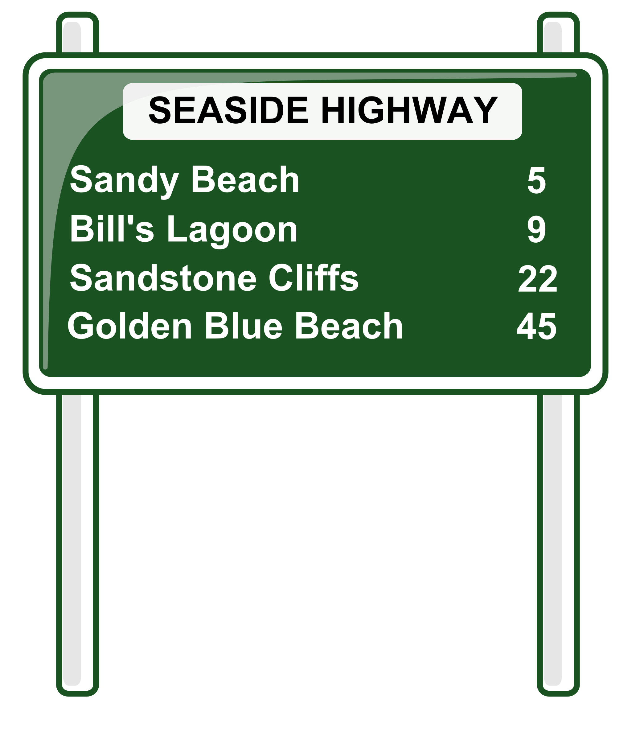 Highway sign png. Road distances icons free