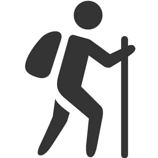 Hiker vector wanderer. Free hiking icon download