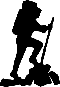 Hiker vector animated. Clip art at clker
