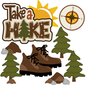Hiker vector clipart. Collection of free camping