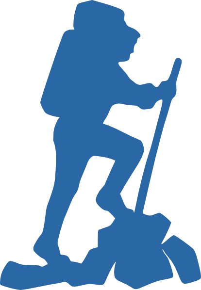 Hiker vector clipart. Clip art at clker