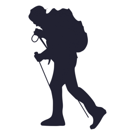 Hiker vector pendaki. Silhouette at getdrawings com