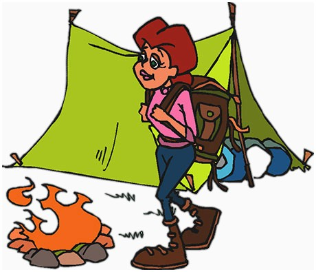 Hiking clipart camping. Free images luxury kids