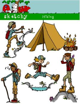 Hiking clipart camping.