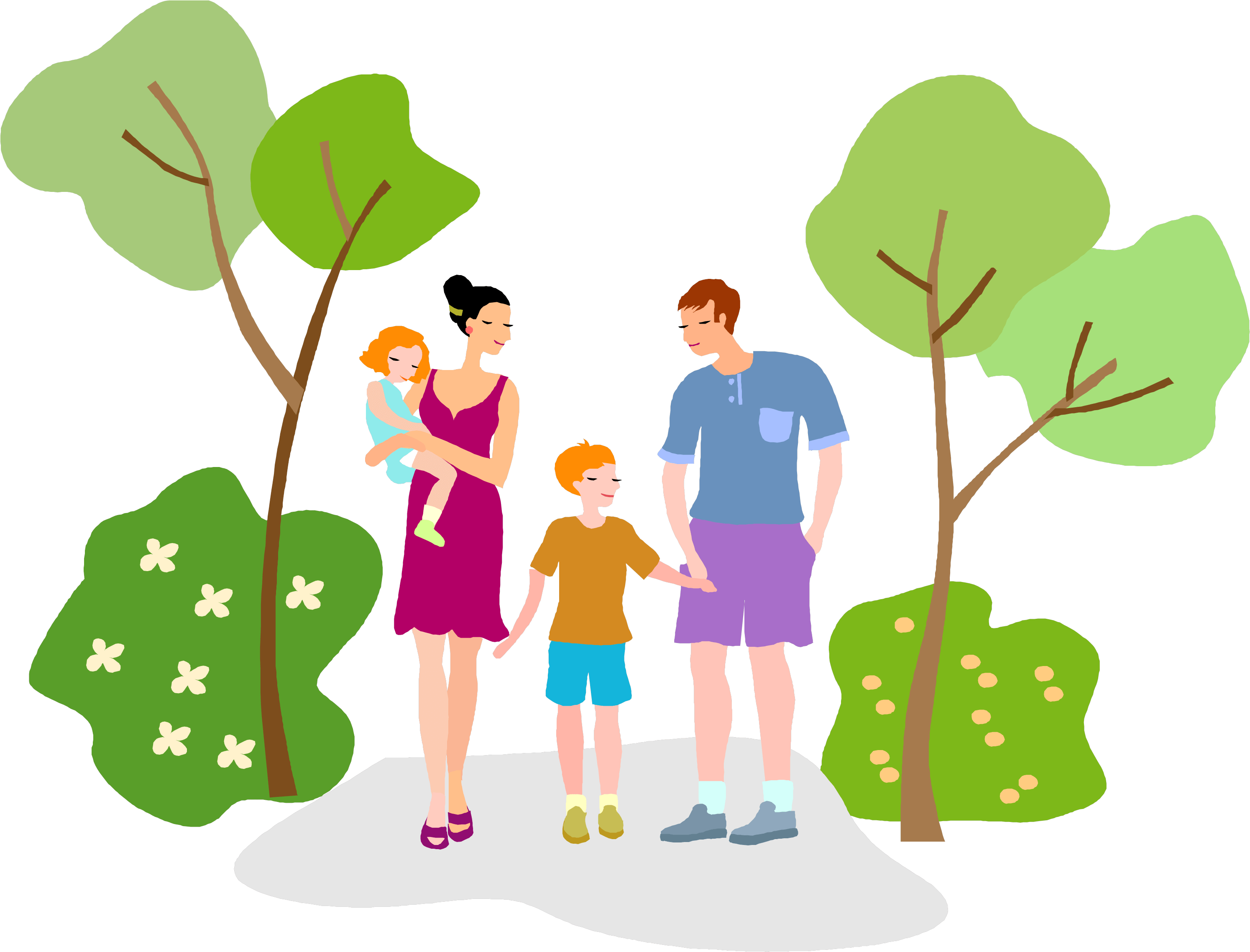 Hiking clipart nature walk. Download walking family png