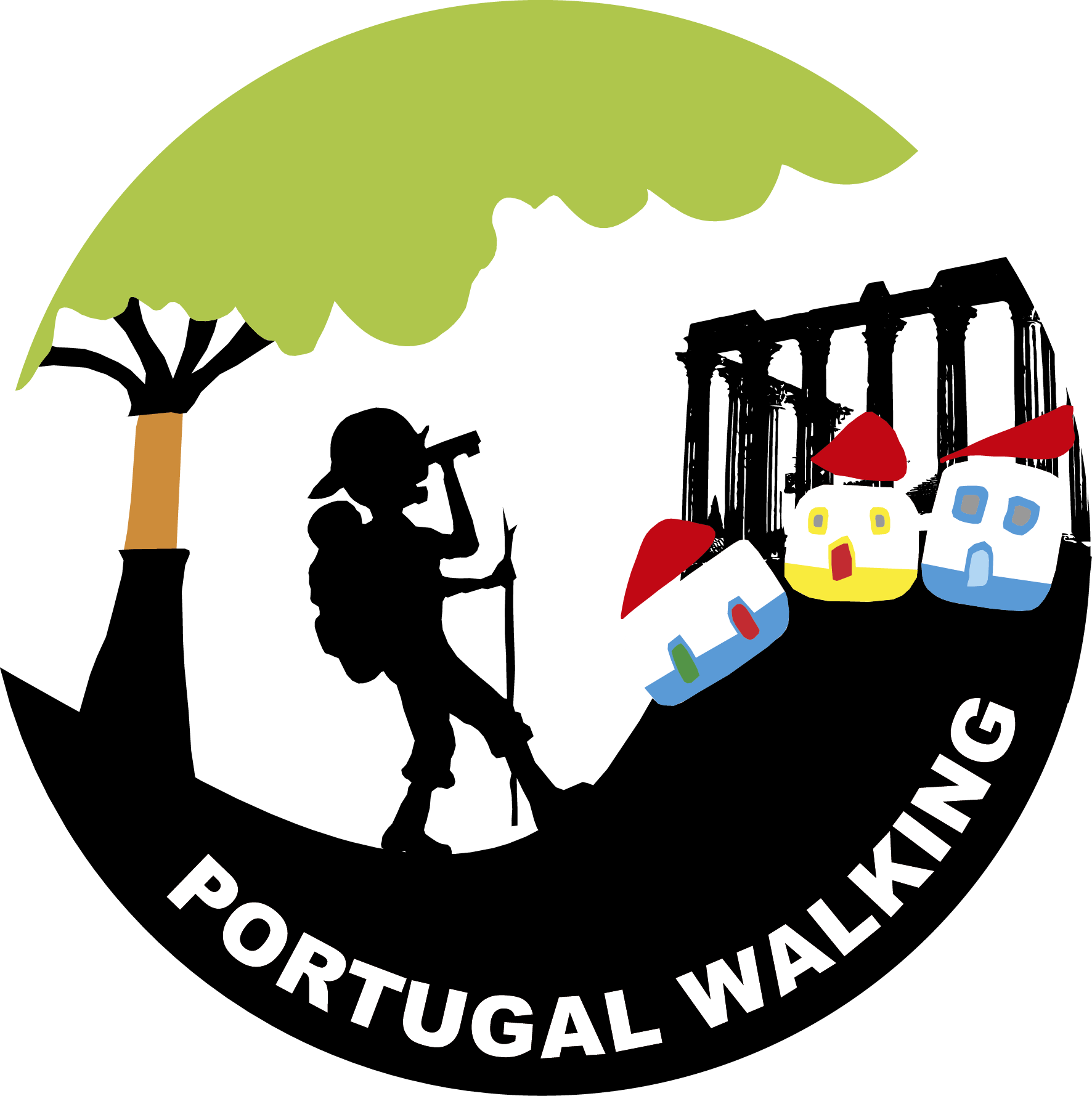 Hiking clipart nature walk. Walking in portugal great