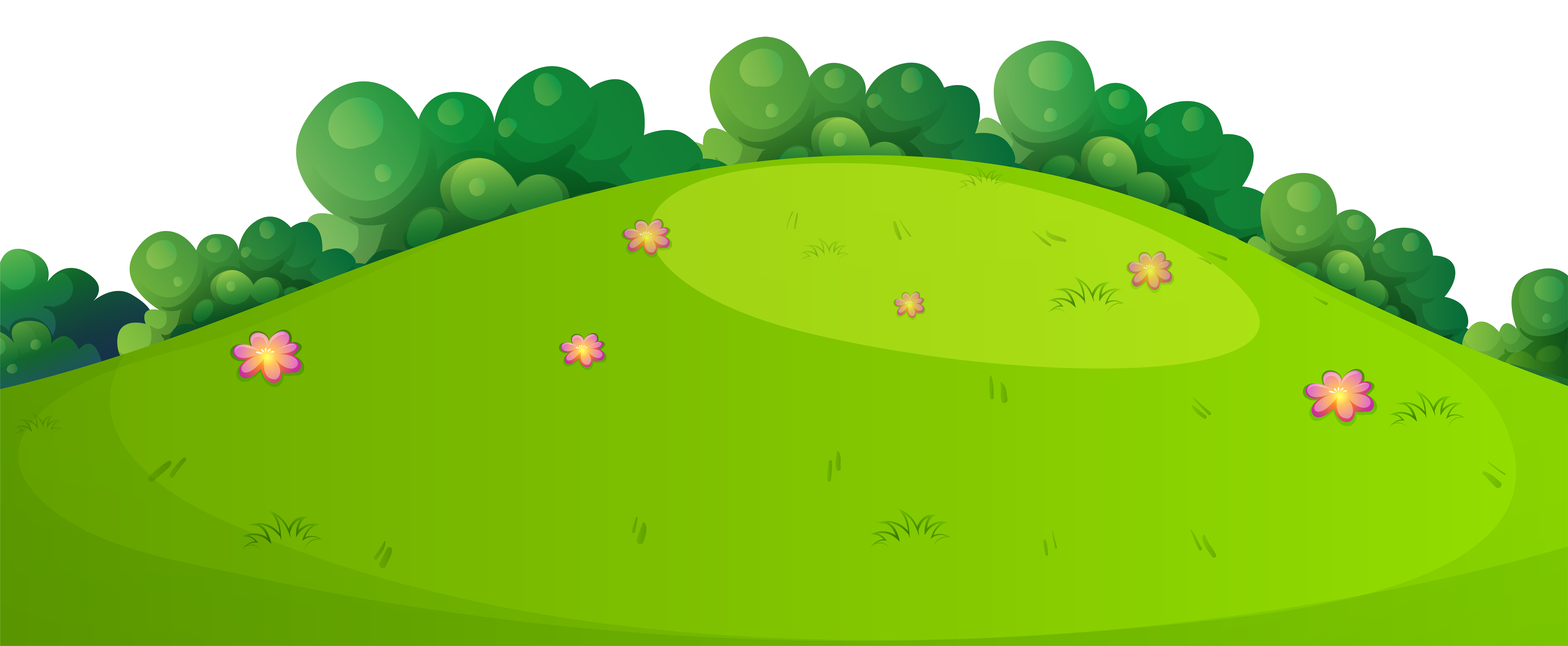 Hill clipart medow. Meadow grass ground png