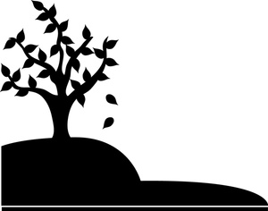 Hill clipart silhouette. Free tree image computer