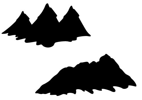 Hill clipart silhouette. Mountain vector with hills