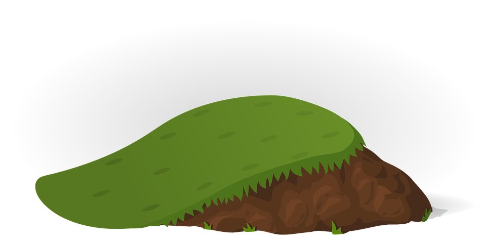 Hill of soil png. Free image on pixabay