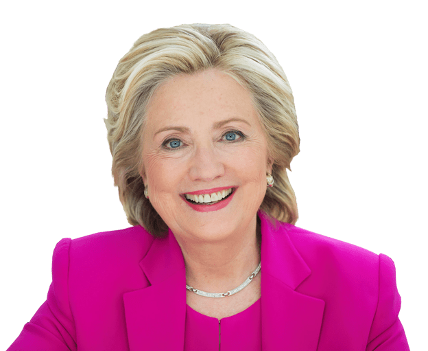 hillary transparent cutout