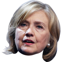 Hillary transparent face. Clinton png images free