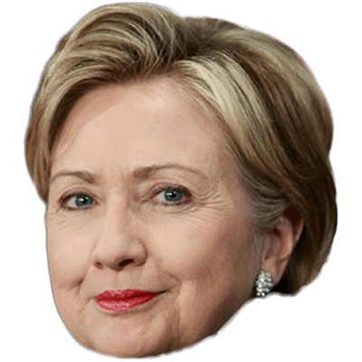 Hillary transparent face. Download clinton free png