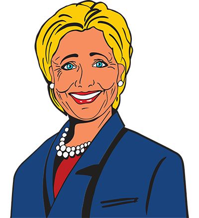 Hillary drawing artwork. Pro face colorful grand