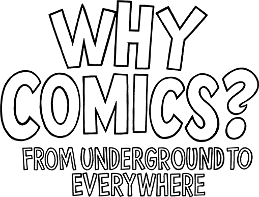 Hillary drawing black and white. Why comics from underground