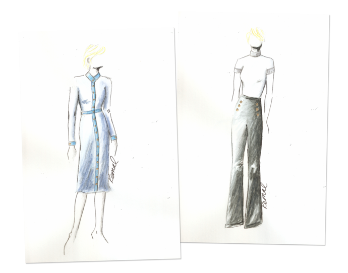 Hillary drawing clothes. Why claire underwood is