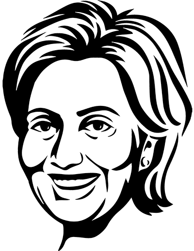 Hillary drawing easy. Pro black sketch of