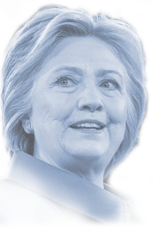 Hillary drawing icon. Campaign travel log follow