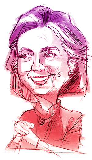 Hillary drawing illustration. Your guide to clinton