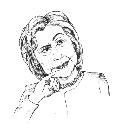 Hillary drawing oil. Clinton the vermont cynic