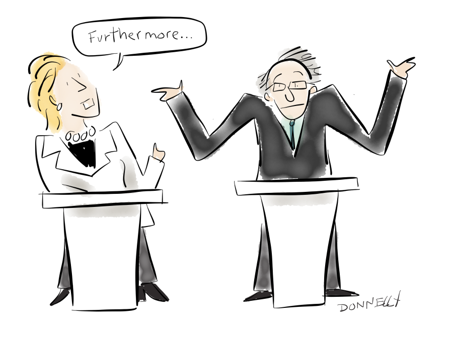 Hillary and bernie do. Politics drawing debate svg free library