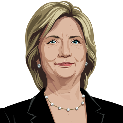 Hillary transparent animation. Clinton entered the final