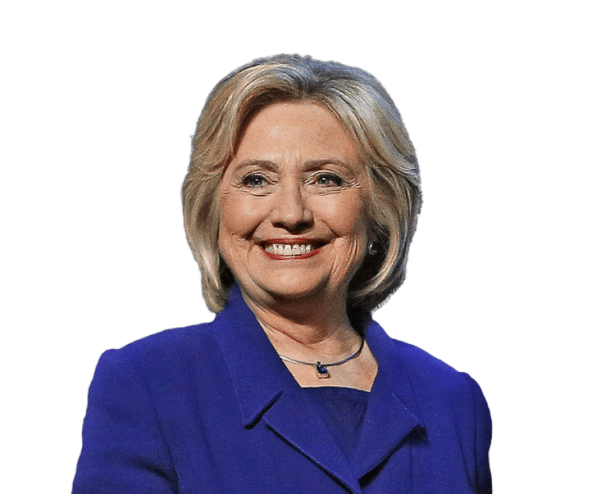 Hillary transparent background. Clinton png free images