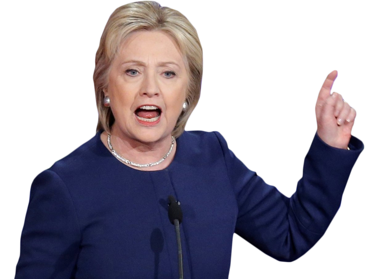 Hillary transparent background. Clinton check all