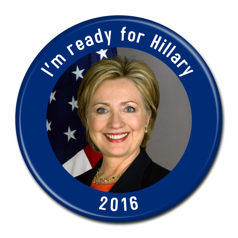Hillary transparent birthday. Clinton for president buttons