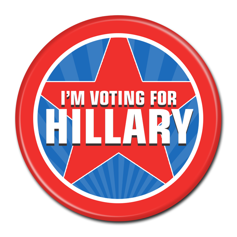 Hillary transparent button. Clinton for president buttons