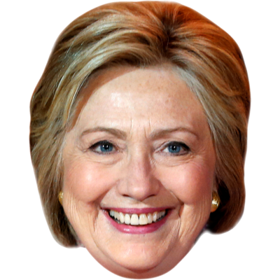 Hillary transparent face. People who donated to